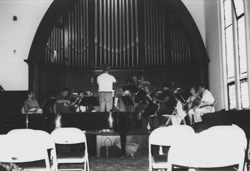 Rehearsing Wagner's Siegfried Idyll in Windham, July 1999