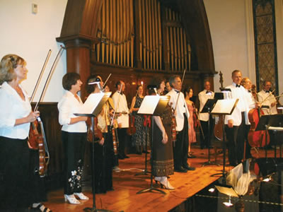 With the Windham Festival String Orchestra following the July 12, 2003 Opening Night Concert